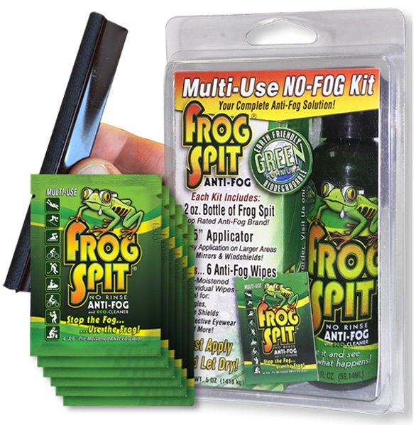 No Fog Kit Anti Fog for Goggles and Glasses - Frog Spit